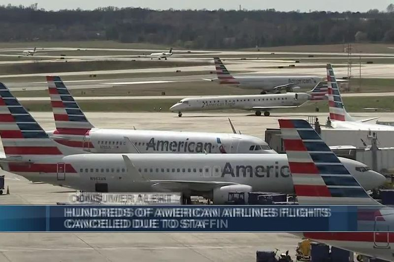 Hundreds of American Airlines flights canceled due to staffing, weather