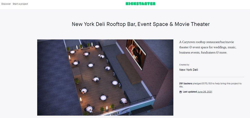 New York Deli rooftop venue Kickstarter