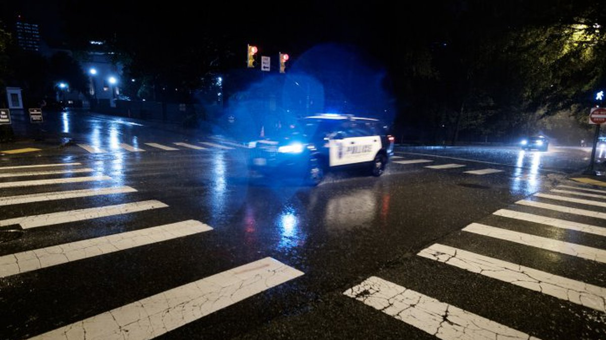 A police car in Richmond, Va.