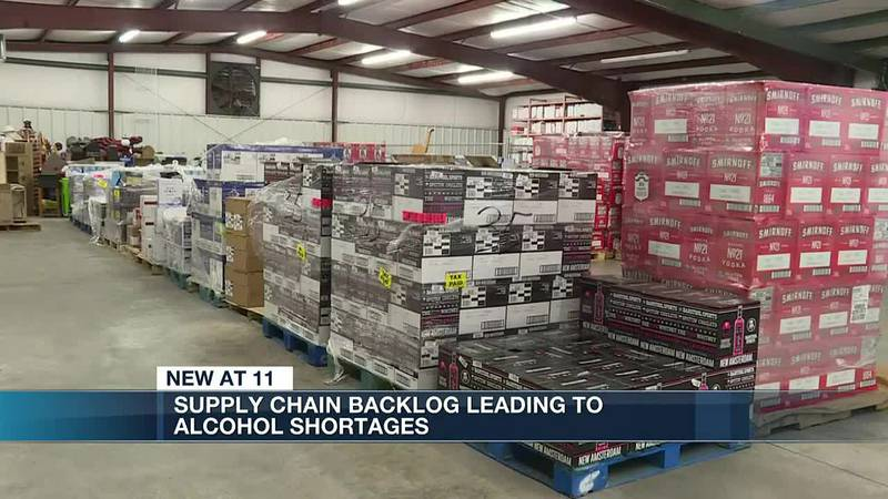 Supply chain backlog leading to alcohol shortages