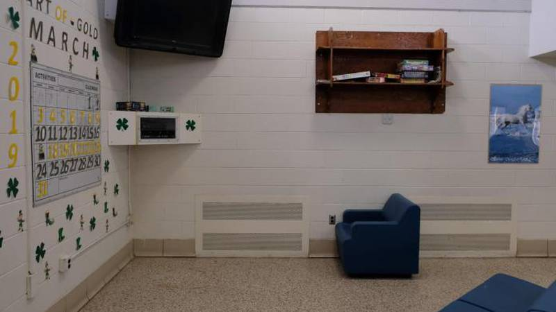 A shared living space in the long-term intensive care building at Central State Hospital in...