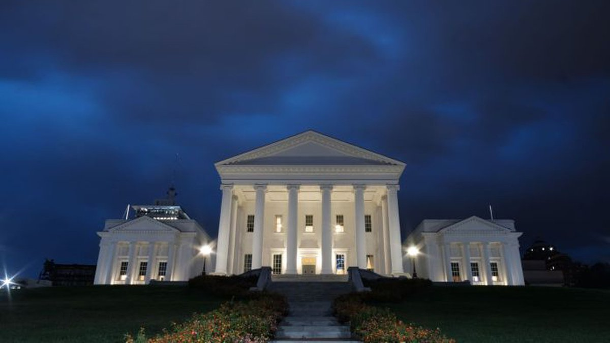 A storm passes over the Capitol in 2018.