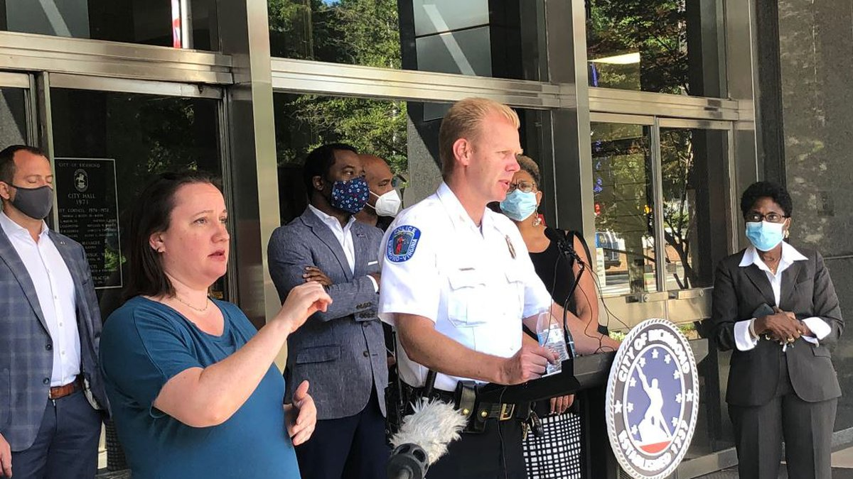 Richmond Police Chief Will Smith got emotional during a press conference after the second night...