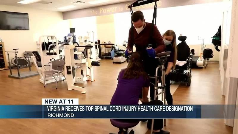 Virginia Receives Top Spinal Cord Injury Healthcare Designation