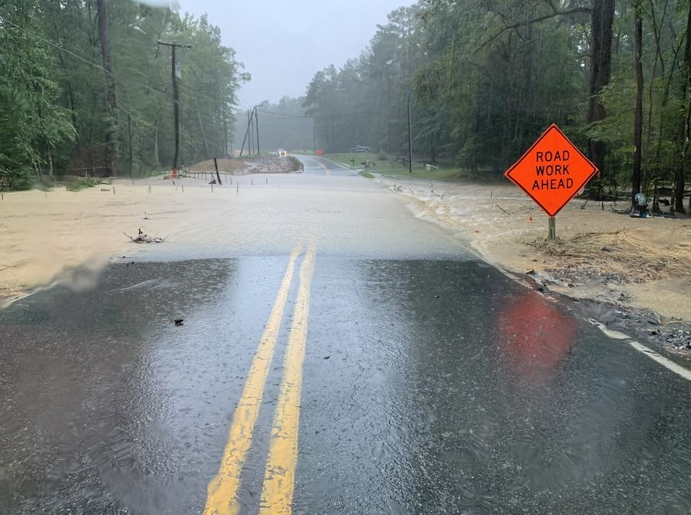 Spring Run Road is closed due to flooding near Bailey Bridge Road in Chesterfield County.