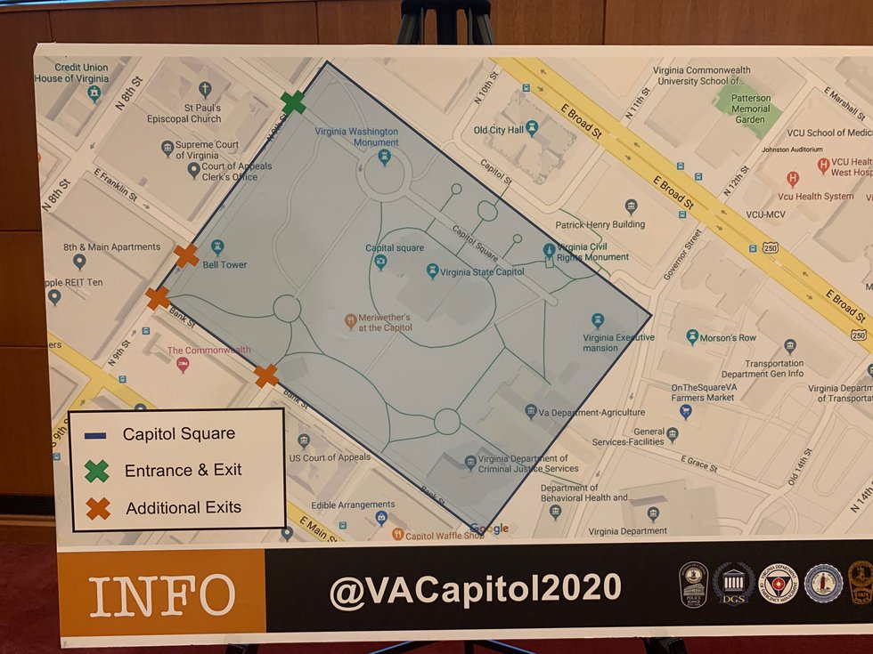 Map for Monday's Rally