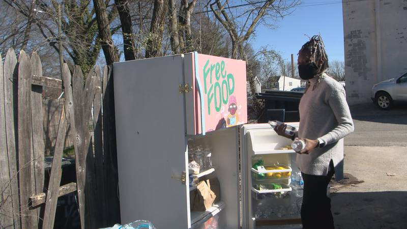 In the City of Richmond you can find two community fridges stocked with food for free....