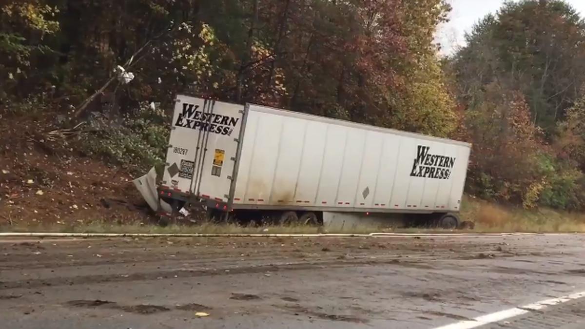 The single-vehicle crash occurred near mile marker 155.