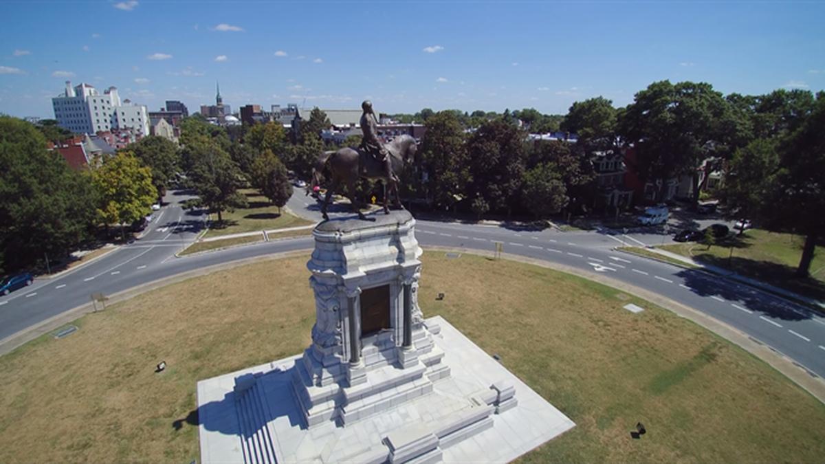 Lee statue on Monument Avenue (Source: NBC12)