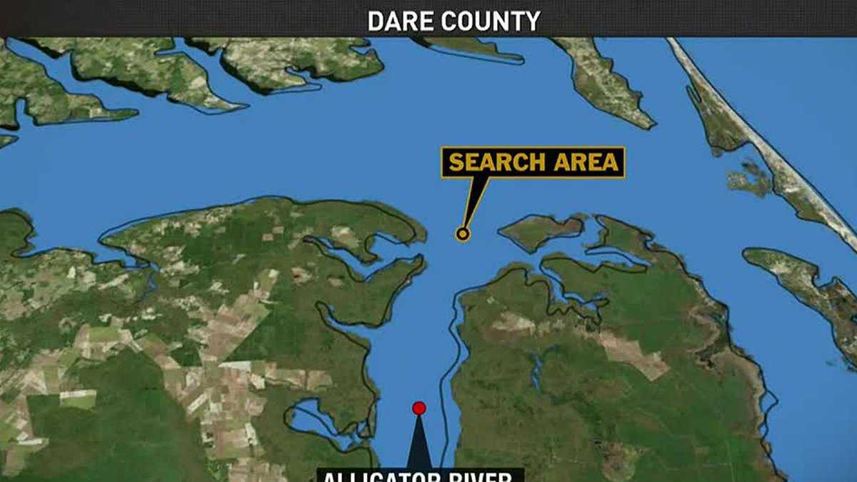 Coast Guard suspends search for 2 people after reported helicopter crash in Albemarle Sound