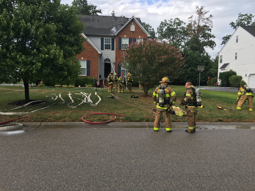 A home on Shepherds Mill Drive in Chesterfield caught fire after what is believed to be a...