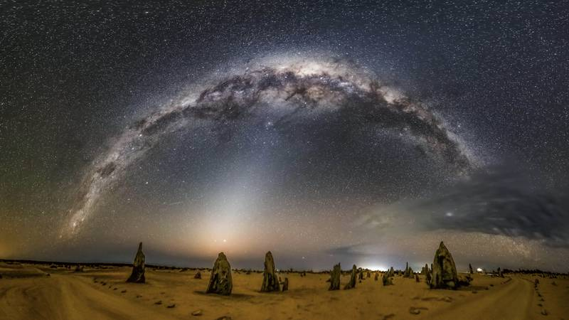 Zodiacal light and the Milky Way putting on an excellent show in Australia.