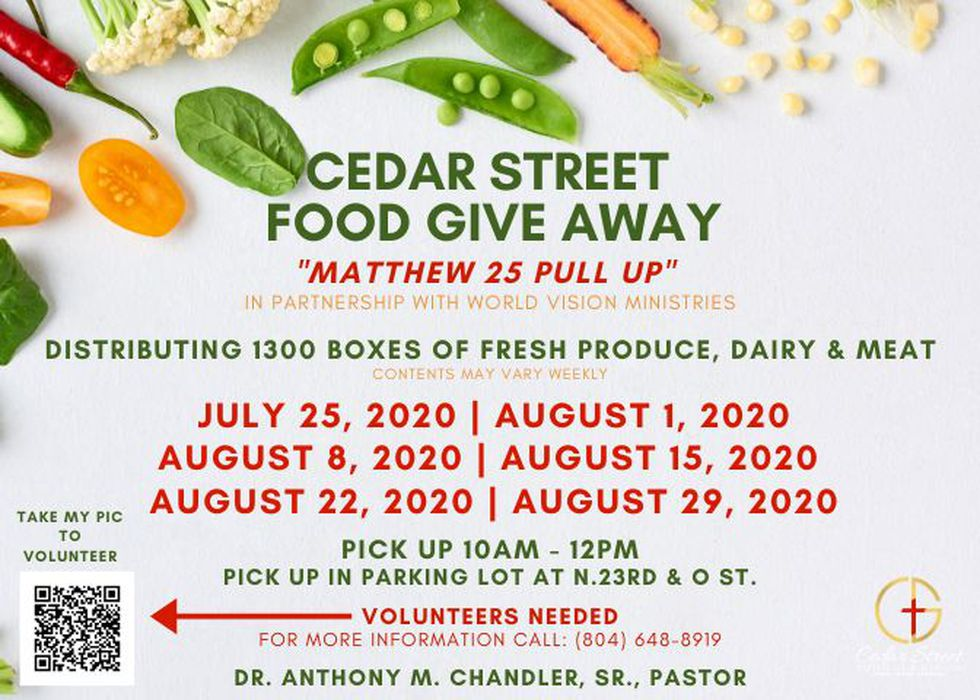 Cedar Street Baptist Church Food Giveaway