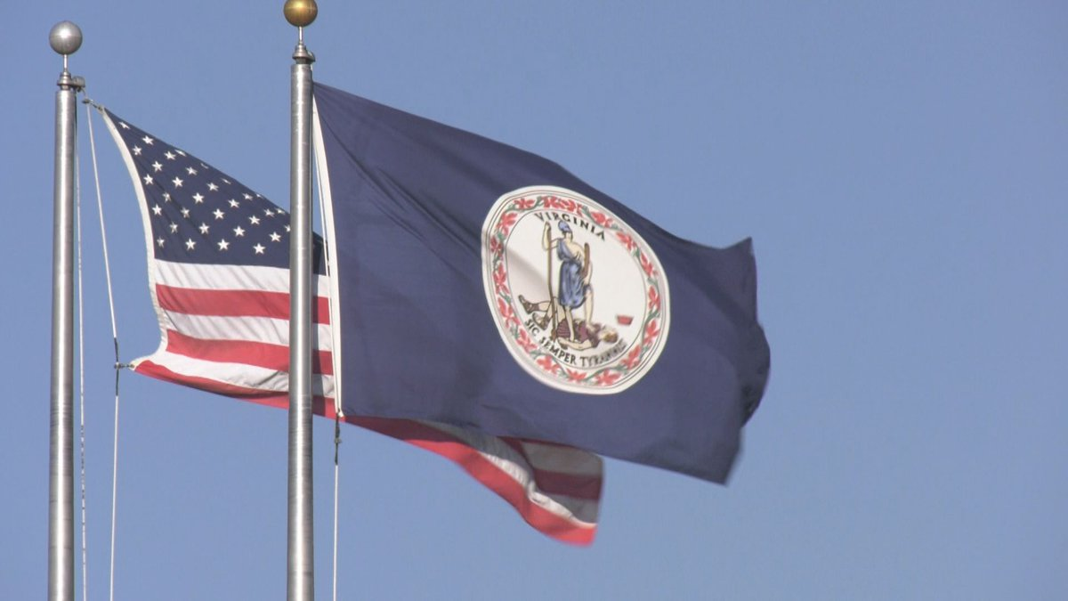 Virginia and American flag