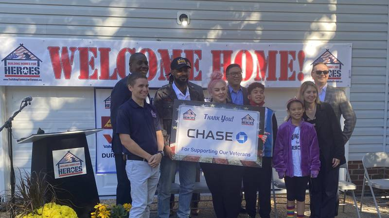 Chester veteran honored with new home