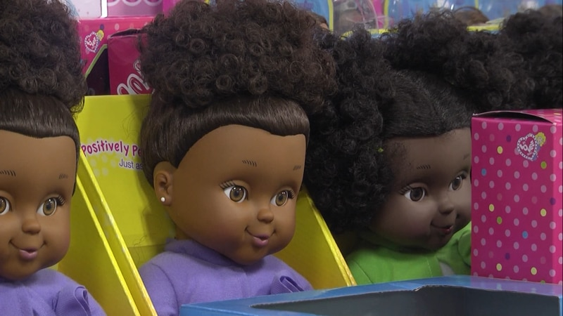 National Coalition of 100 Black Women of the Charlottesville collecting black dolls and books
