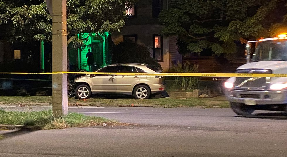 Police say the driver of the vehicle who hit the person stayed at the scene.