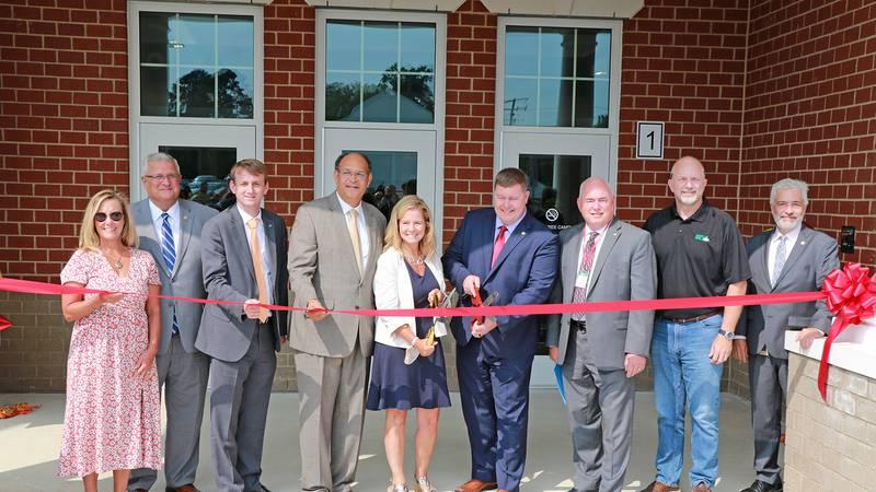 Ettrick Elementary School ribbon-cutting ceremony on July 26, 2021.