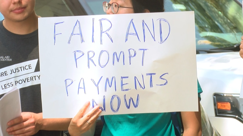 The Unemployment Action Coalition of Virginia held a news conference outlining the list of...
