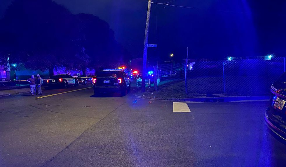 Officers were called to Mosby Court around 2:20 a.m. for the shooting.