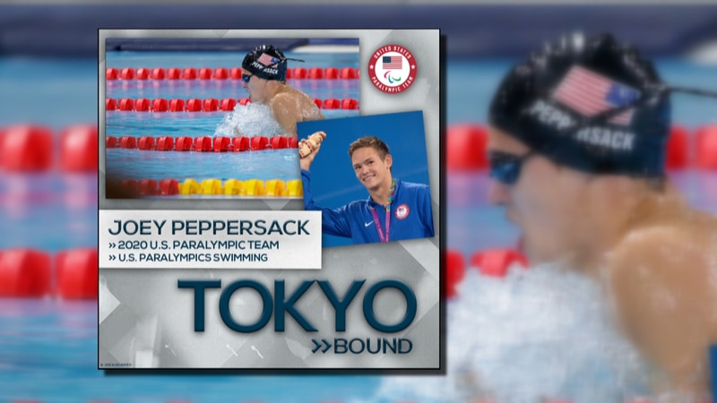 Hopewell native Joey Peppersack will swim in the Tokyo Olympics in August.