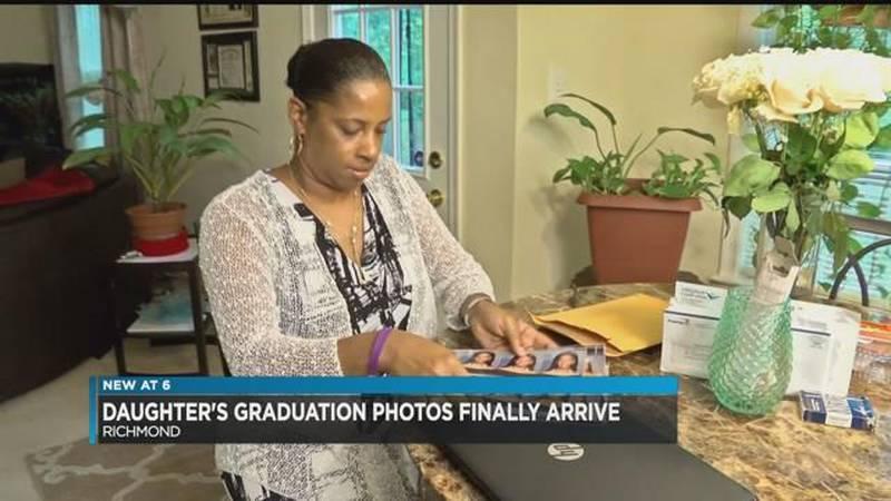 Daughter's graduation photos finally arrive