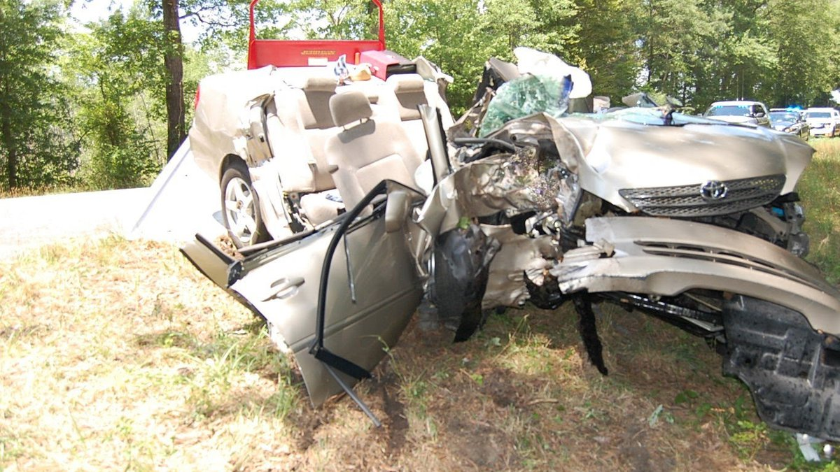 Virginia State Police released this photo from a crash in Caroline County.