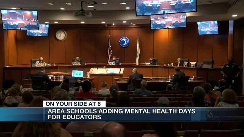 'They're overwhelmed': Area school systems add mental health days for educators