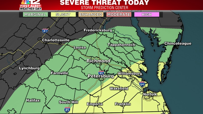 Strong storms possible this evening. Best chance for severe storms lies south and east of...