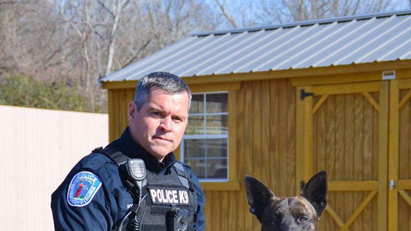 Officer Rotondi and K9 Dozer.