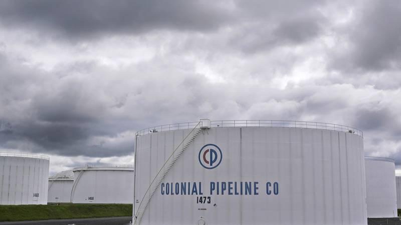 Colonial Pipeline storage tanks are seen in Woodbridge, N.J. The pipeline said it was shutting...