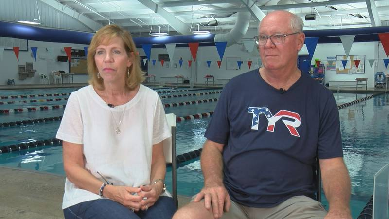 Lori and Channing Haas are cheering on their son, Townley, from home. He's in Tokyo swimming...