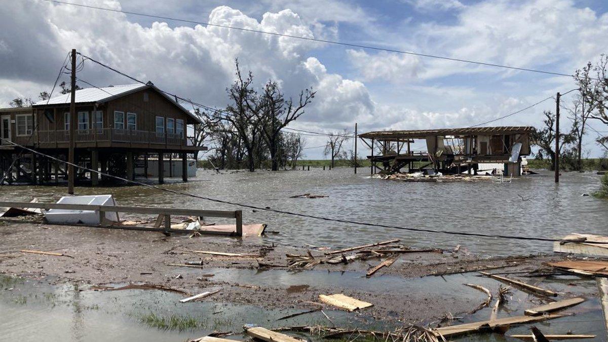 Hurricane Ida caused heavy damage in Pointe-aux-Chenes, La., which is located in Terrebonne...