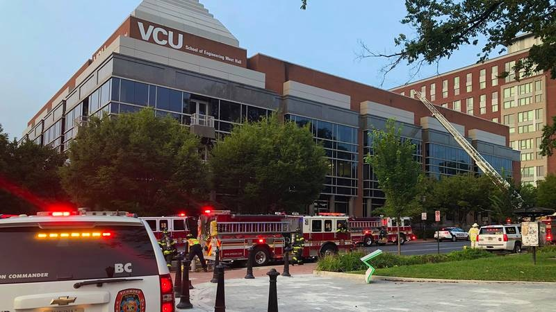 Crews responded to a report of a fire at VCU's School of Engineering West Hall building Tuesday...