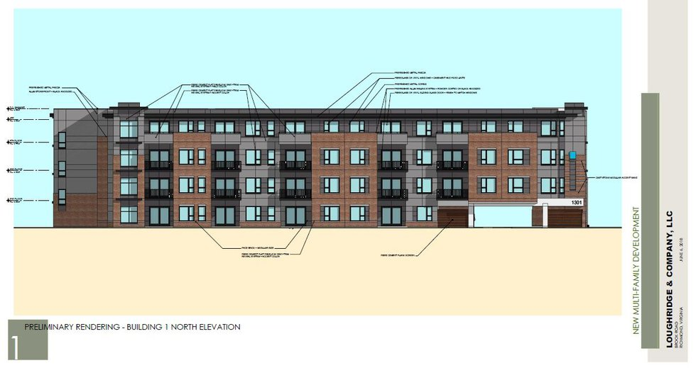 A proposed apartment building for Brood Road in Richmond.
