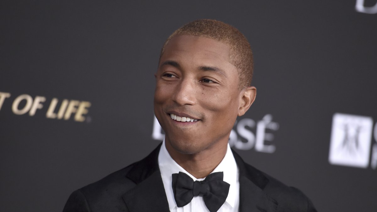 Pharrell Williams arrives at the City of Hope Gala on Thursday, Oct. 11, 2018, at the Barker...