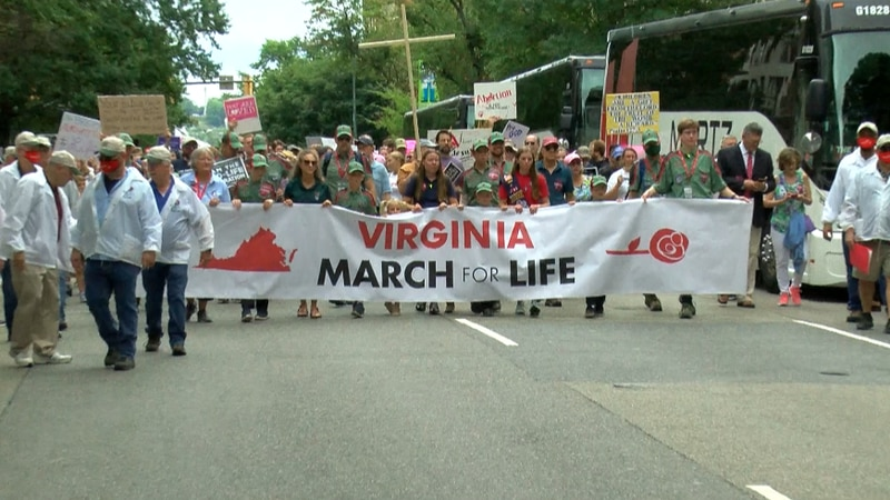 Hundreds of people attended the March for Life rally in Richmond on Friday.