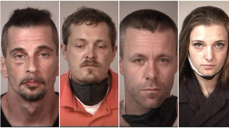 Investigators say these four people all played a part in the gruesome abuse of goats caught on...