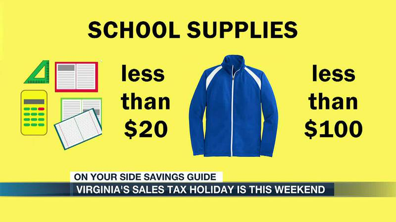 Virginia's sale tax holiday is this weekend