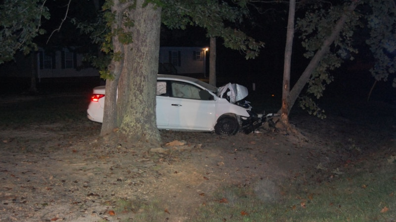 Virginia State Police said a woman was killed after her vehicle went off the road and hit a tree.
