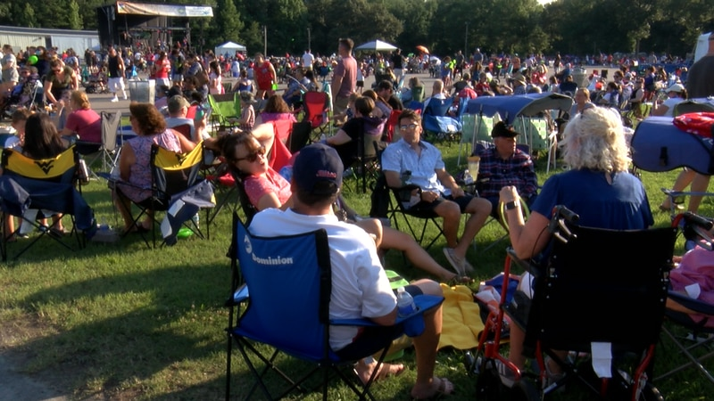 Hundreds attend the Fourth of July celebration at Chesterfield County Fairgrounds on Sunday.