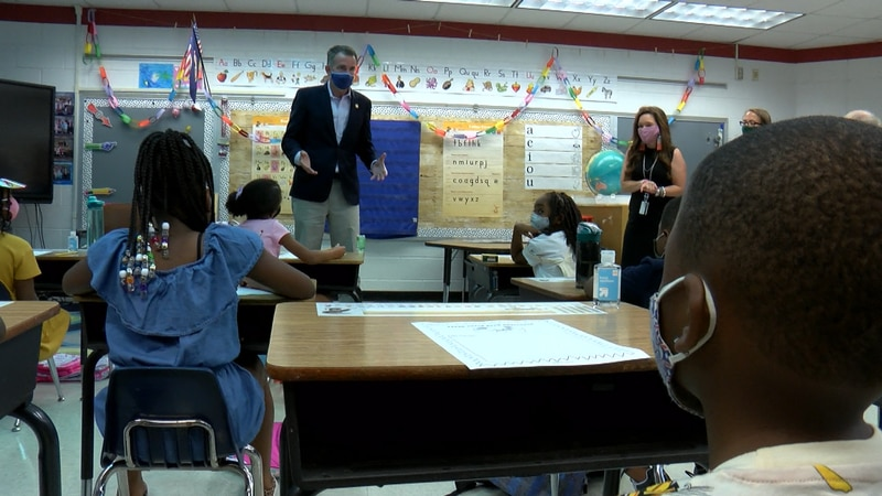 Governor Ralph Northam visits Hopewell Public Schools on the first day of their year-round...