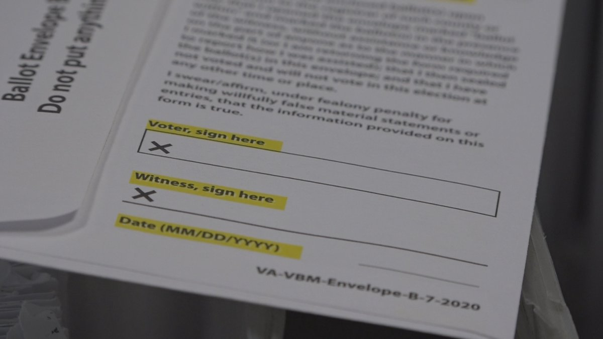As absentee ballots pour in across the state ahead of Election Day, the Virginia Department of...