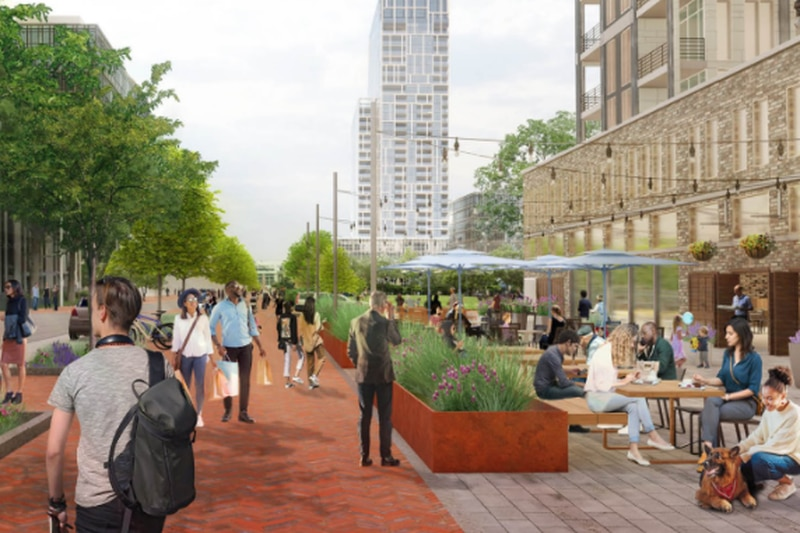 """The """"City Center"""" draft plans are now available for the area between Broad and Leigh Streets,..."""