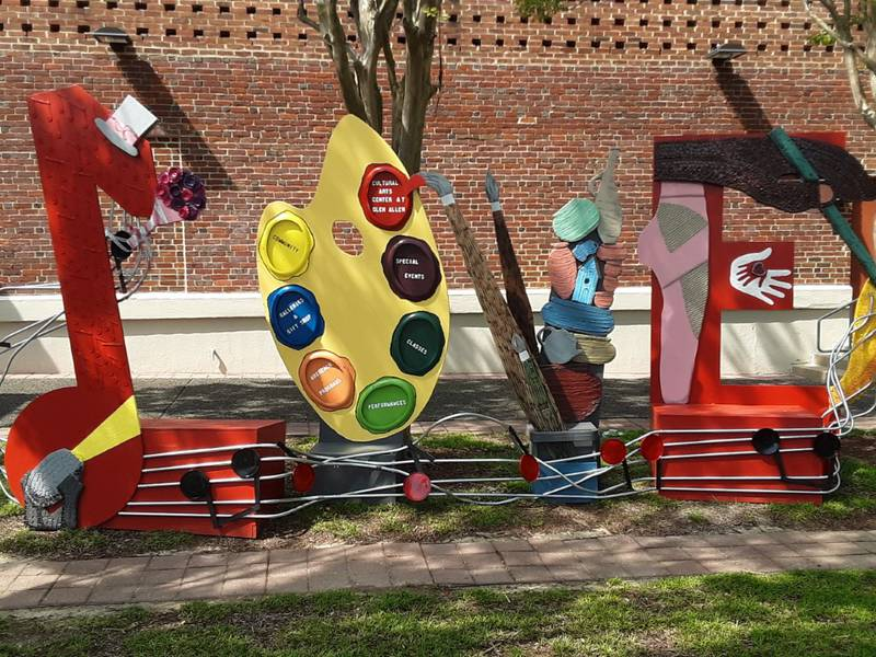 A new LOVE sign has been added at The Cultural Arts Center at Glen Allen.