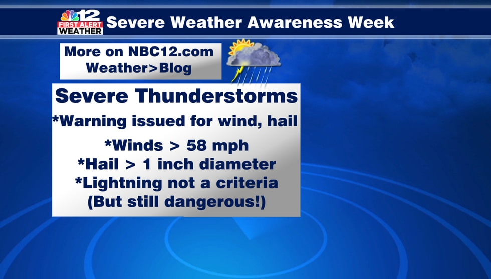 Severe thunderstorms can bring damaging winds and destructive hail.