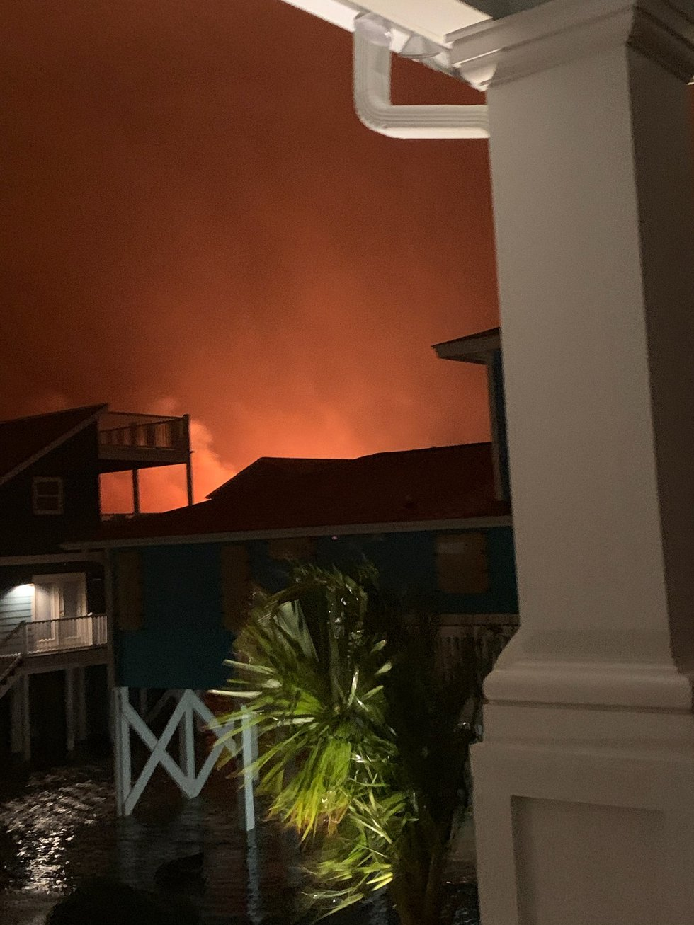 Fires sparked in Ocean Isle Beach as Hurricane Isaias moved on shore.
