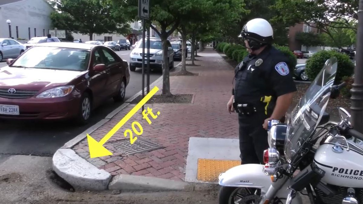 Richmond police created a YouTube video to illustrate the dangers of parking too close to an...