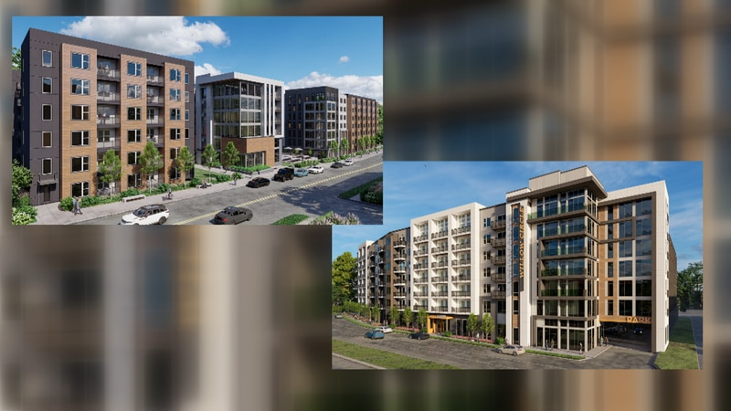 Proposed nearly 600 apartments in the Willow Lawn area.