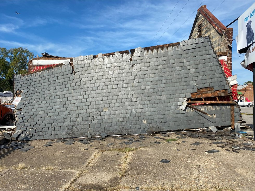 Crews are investigating after a roof slid of a Henrico restaurant on Thursday afternoon.